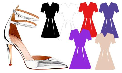 Платья Фиолетового Цвета С Какими Туфлями